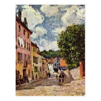 Street in Moret Sur Loing by Alfred Sisley Postcard