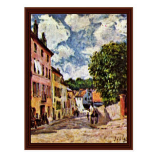 Street In Moret-Sur-Loing By Sisley Alfred Post Cards