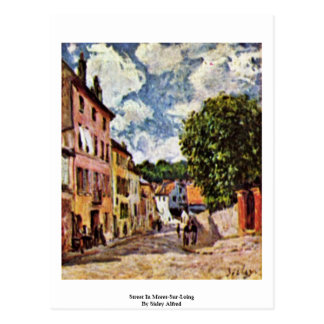 Street In Moret-Sur-Loing By Sisley Alfred Postcard