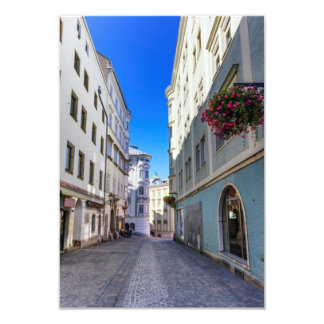 Street in old city, Linz, Austria Card