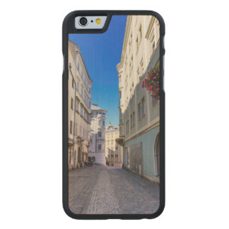 Street in old city, Linz, Austria Carved Maple iPhone 6 Case