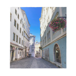 Street in old city, Linz, Austria Notepad