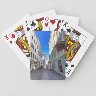 Street in old city, Linz, Austria Playing Cards