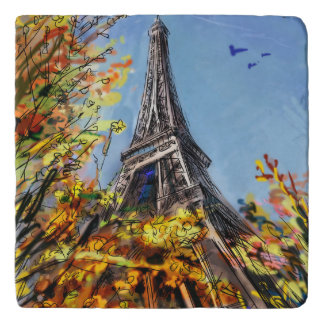 Street In Paris - Illustration Trivet