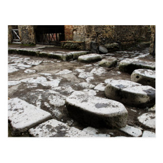 Street in Pompeii - Stones in street Postcard