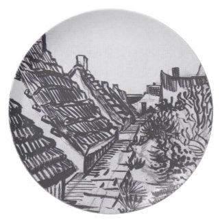 Street in Saintes-Maries by Vincent van Gogh Plate