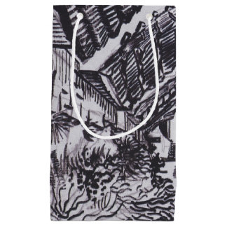 Street in Saintes-Maries by Vincent van Gogh Small Gift Bag