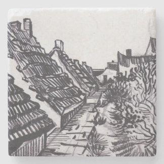 Street in Saintes-Maries by Vincent van Gogh Stone Coaster