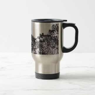 Street in Saintes-Maries by Vincent van Gogh Travel Mug