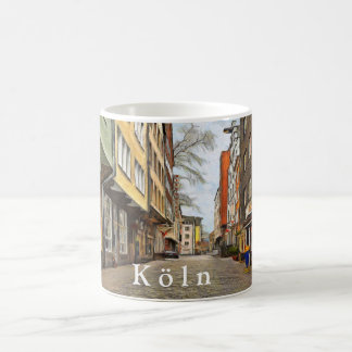 Street in the old quarter of Cologne. Coffee Mug
