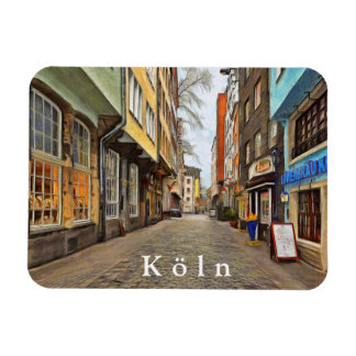 Street in the old quarter of Cologne. Magnet