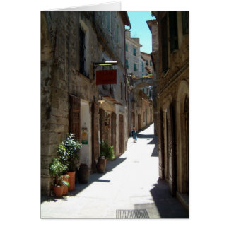 street in tuscany card