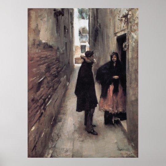 Street In Venice Poster