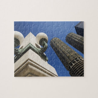 Street lamp detail at Marina City Towers Chicago Jigsaw Puzzle