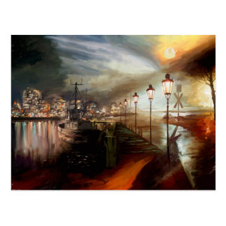 Street Lamp Hallucination Postcard