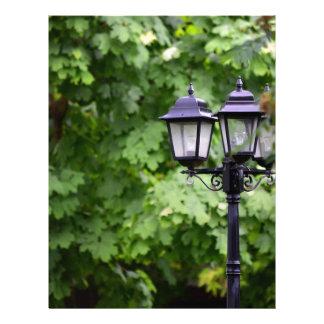 Street lamp letterhead template