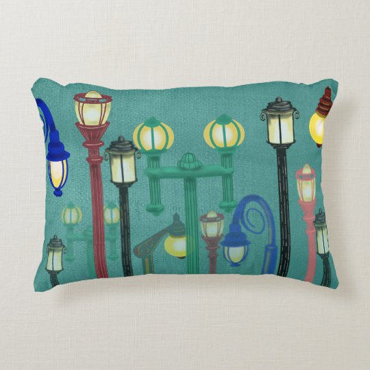 STREET LAMPLIGHTS by Slipperywindow Decorative Pillow