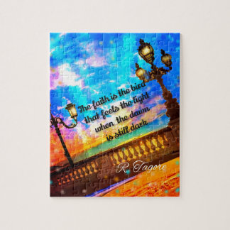 Street lamps at dawn jigsaw puzzle