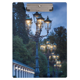 Street lamps at night, Germany Clipboard