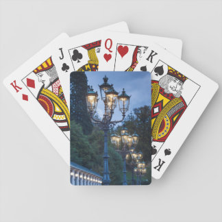 Street lamps at night, Germany Playing Cards