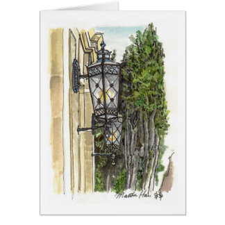 Street lamps card