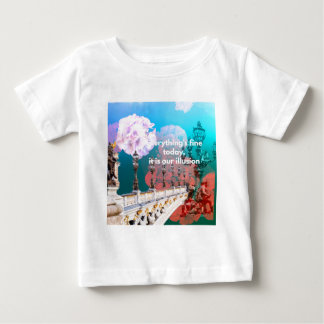 Street lamps flowers and message baby T-Shirt