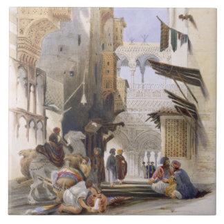 Street Leading to El Azhar, Grand Cairo, pub. 1846 Ceramic Tiles