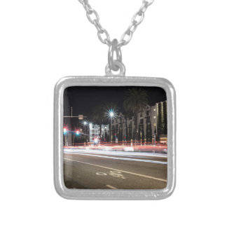 street life silver plated necklace