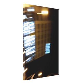 street lights speeding canvas print