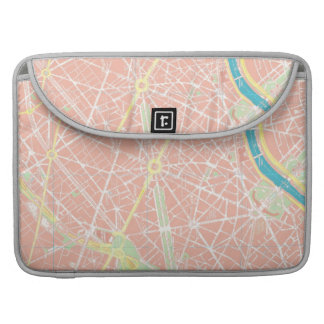 Street Map of Paris, France Macbook Sleeve Sleeve For MacBooks