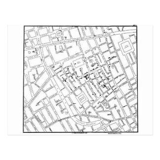 STREET MAP POSTCARD