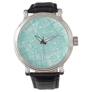 Street Map Unisex Travel Watch