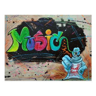 Street Music Postcard