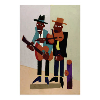 Street Musicians ~ Vintage American Art Poster