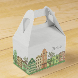 Street of City - Personalized Gable Favor Box