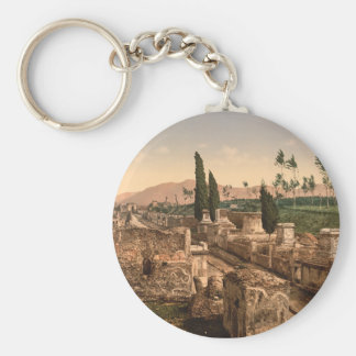 Street of the Tombs, Pompeii, Campania, Italy Keychain