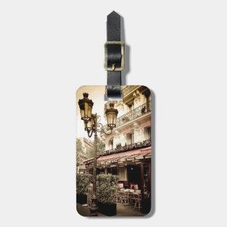 Street restaurant, Paris, France Luggage Tag