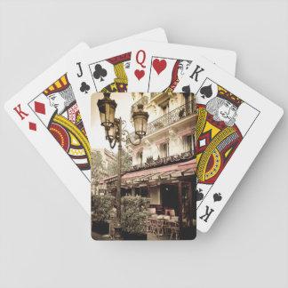 Street restaurant, Paris, France Poker Deck