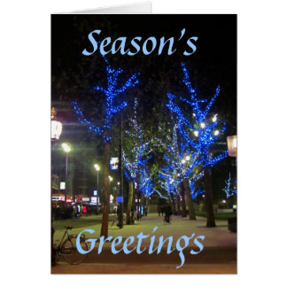 Street Scene, Amsterdam, Season's, Greetings Card