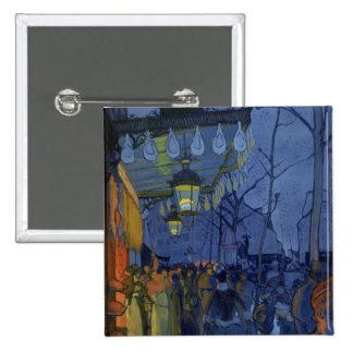 Street Scene, at Five in the Afternoon, 1887 2 Inch Square Button