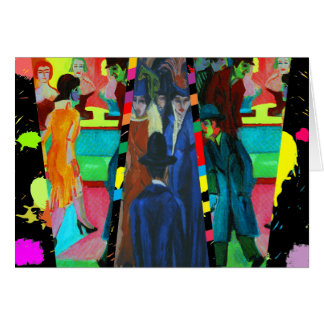 Street Scene by Ernst Ludwig Kirchner Card