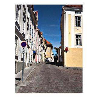 Street Scene Estonia Postcard