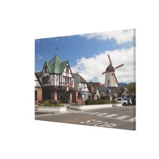 Street Scene from historic Solvang, 'The Danish Canvas Print