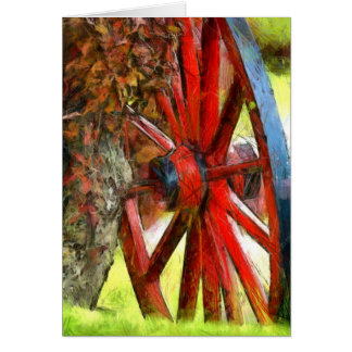 Street Scene - Wagon Wheel Card