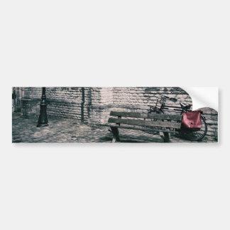 street scene with a bike bumper sticker
