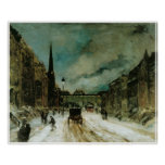 Street Scene with Snow (57th St. NYC) 1902 Poster