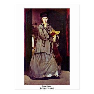 Street Singer By Manet Edouard Postcard