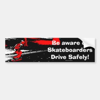Street Skater  -  Skateboarder Bumper Sticker