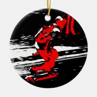 Street Skater  -  Skateboarder Round Ceramic Ornament