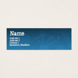 STREET SPLATTER blue Mini Business Card